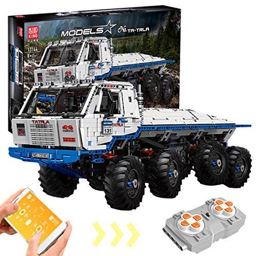 HENG 3647Stck. 1:8 8x8 2.4G 4CH Dual RC Truck Bausteine Multifunktion Technic Auto Architekturmodell mit 9 Motoren, Kompatibel mit Lego