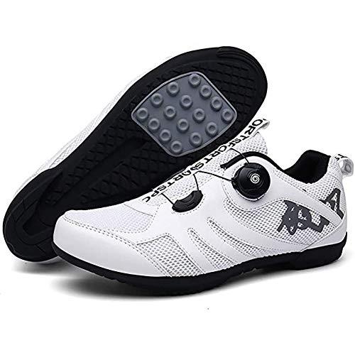 BHHT Zapatillas De Ciclismo para Hombres Transpirables Antideslizantes Zapatillas De Carrera Zapatillas De MTB Planas Sin Sistema De Clic Zapatillas De Bicicleta De Montaña