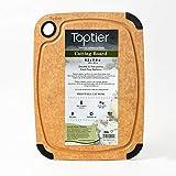 Toptier まな板 キャンプ まないた ゴム付き カッティングボード 食器洗い乾燥機対応 家庭用 アウトドアに適用 (23.5x 30 cm)