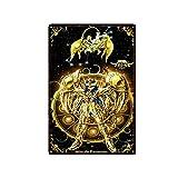 Cartel de Chapa de Anime japonés Saint Seiya, Cartel de Chapa, Cartel Retro, Bar, cafetería, Garaje, Placa de decoración de Pared para el hogar, 01 20x30cm 35