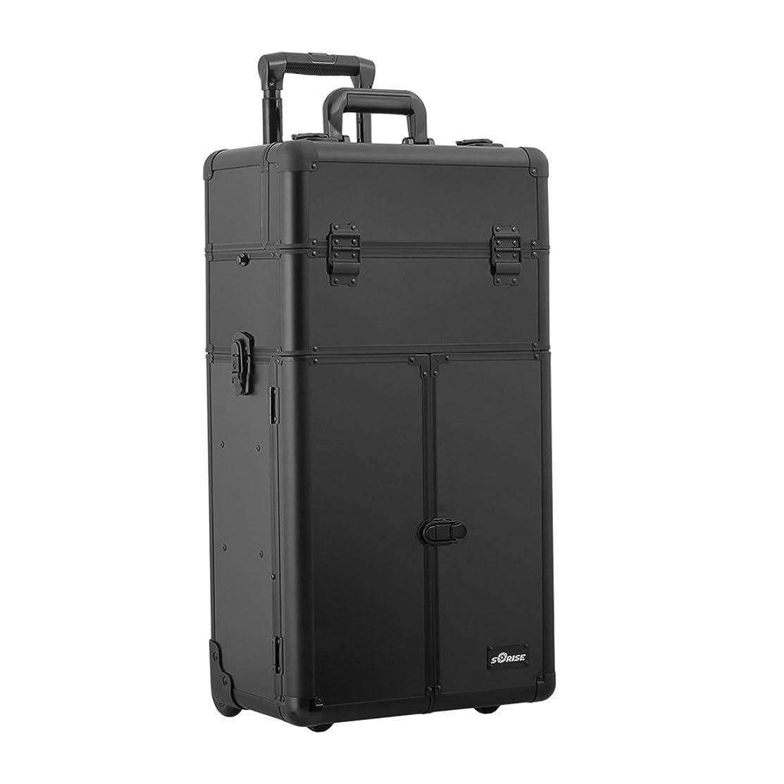 Black Smooth Trolley Craft/Quilting Storage Case - I3566