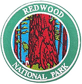 Redwood National Park Embroidered Iron on sew on Patch Nature Badge