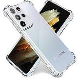 Carcasa para Samsung S21 Ultra 5G, transparente, suave silicona protectora TPU Gel Fina para Galaxy S21 Ultra 5G 2021 – 6,8 pulgadas, reforzar la versión con cuatro esquinas