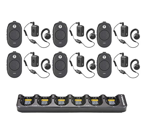 Review Of 6 Pack of Motorola CLP1060 Radios with 6 Push to Talk (PTT) earpieces and a 6-Bank Radio Charger