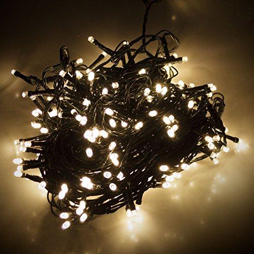 LED Lichterkette mit 180 LEDs Warmweiß 1,65m 1650cm| Beleuchtung für Innen & Außen | Garten Dekoleuchte Weihnachtsdekoration
