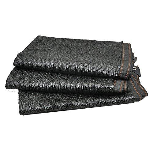 HUO Tissu de Maille de Sun de Filet d'ombre de Sunblock pour l'usine extérieure de Fleur de Jardin de Voiture (Couleur : Noir, Taille : 2 * 4m)