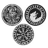 FaithHeart Viking Norse Moral Patches 3 Stück Viking Oding Klettverschluss