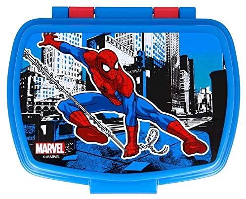Tarro térmico para aperitivos con diseño de Spiderman Streets Marvel