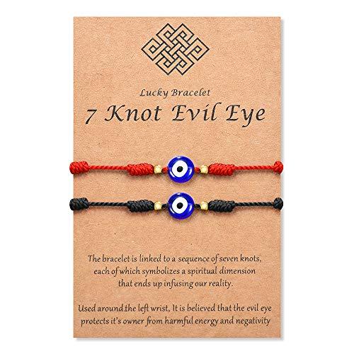 Tarsus Nazar Amulet Mal De Ojo Bracelet Blue Bad Eye Protection for Women Men Teen Boys