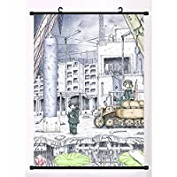 少女終末旅行ゆうりちとマンガウォールスクロールリールポスター室内装飾ファンがアートギフトを集める 19.7x29.5inch/50x75cm