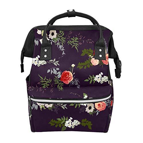 Wickeltaschen-Rucksack, multifunktionaler Reiserucksack, Baby-Wickeltaschen, große Kapazität, wasserdicht und stilvoll, Handgepäck-Rucksack für Business