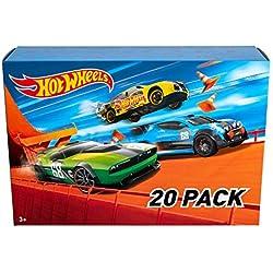 Hot Wheels - Track Buider Caja de Acrobacias Deluxe (Mattel GGP93) + Wheels - Pack De 20 Vehículos con Embalaje de Cartón, Coches de Juguete (Modelos Surtidos) (Mattel DXY59): Amazon.es: Juguetes y juegos