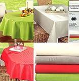 heimtexland Gartentischdecke Outdoor Tischdecke WETTERFEST 130 x 160 cm rechteckig in rot schmutz- und wasserabweisend ÖKOTEX Garten Camping Tisch Deko Typ546