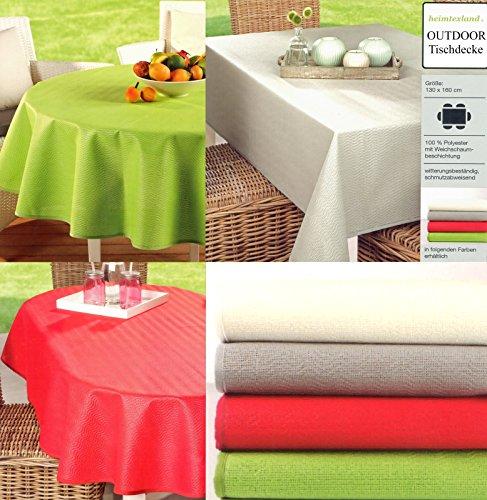 Heimtexland Typ546 Tuintafelkleed, voor buiten, weerbestendig, vuil- en waterafstotend, ÖKOTEX campingtafel, decoratie