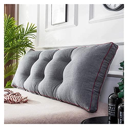 Aralinda Cojín grande de apoyo de posicionamiento para lectura, cojín de cabecera Tatami para cama de día, litera, cojín de cuña con relleno extraíble, 1802050 cm x 20 cm