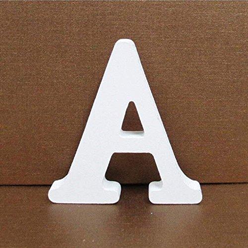 Gspirit Decorativo De Madera Letras, Pared Letras 26 Letras Madera Alfabeto para Niños Bebé Nombre Cumpleaños Fiesta Boda Casa Decoración (A)