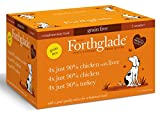 Forthglade Natural Grain Free Completmentary Wet Dog Food Just 90 Percent Poultry Variety Pack 395 g (Pack of 12)