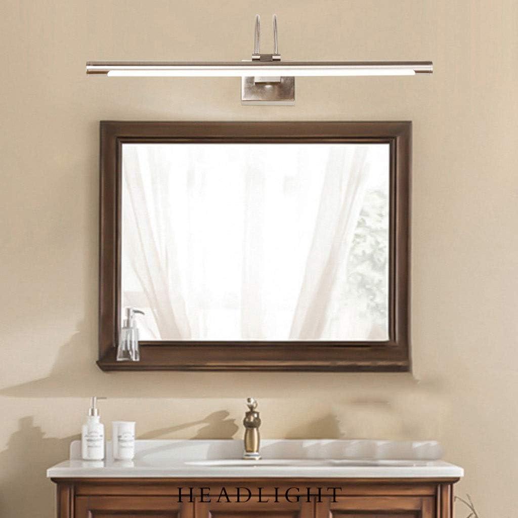& Spiegellampen Spiegel Frontleuchte LED Schlafzimmer Badezimmer Wandleuchte Feuchtigkeits Schminktisch Spiegel Lampe Spiegel Kabinett Licht Retro Europäischen Stil [Energieklasse A ++] White Light-48cm/7w