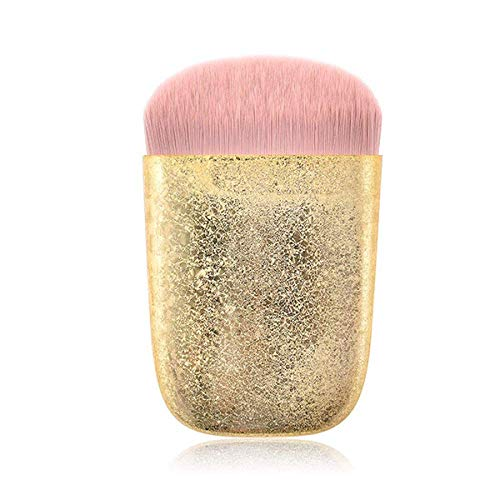 TYWZJ Make-up Pinsel, 1 Stück Gold Pink Glitter Loose Puder Pinsel Rouge Pinsel Superweiche Make-up...