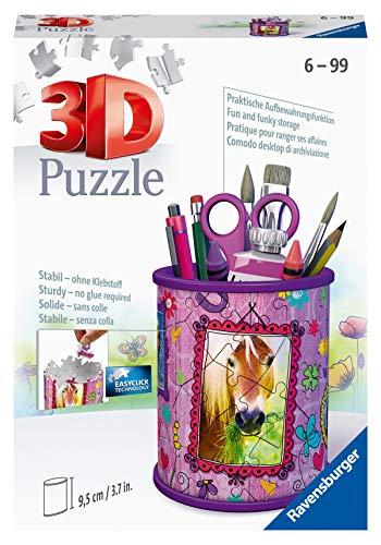 Ravensburger 3D Puzzle 11175 - Utensilo Pferde - 54 Teile - Stiftehalter für Tier-Fans ab 6 Jahren, Schreibtisch-Organizer für Kinder