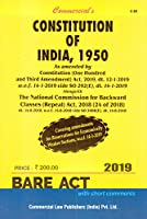 Commercial's Constitution of India, 1950 - 2021/edition