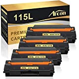 Arcon Compatible Toner Cartridge Replacement for Samsung MLT-D115L 115L Samsung Xpress SL-M2830DW SL-M2880FW SL-M2820DW SL-M2620 SL-2620ND SL-2820ND M2670 M2670FN M2670N M2870FD (Black, 4-Pack)