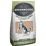 Greenwoods Arena natural para gatos de 30 l, 100% completamente natural, biodegradable, con fragancia de madera natural, baja en polvo, libre de polvo