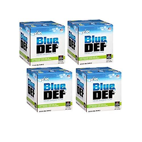 BlueDEF Diesel Exhaust Fluid Synthetic Urea Deionized Water 2.5 Gallon (4 Pack)