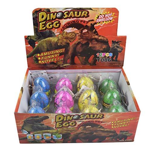 Yeelan La eclosión de Dino del dragón Hatch-Grow Huevos Grande Tamaño del envase de 12 PCS, grieta Colorido