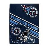 NORTHWEST NFL Tennessee Titans Serenity Silk Touch Throw Blanket, 60' x 80', Slant
