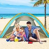 ZOMAKE Tienda de campaña de Playa para 3 Personas, Refugio Solar instantáneo portátil con protección UV UPF 50+ para Senderismo, Camping, Pesca