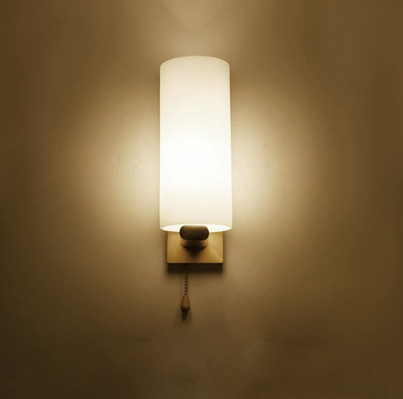 mejor oferta Axiba Lámparas de de de parojo Moderna lámpara de mesilla lámpara de parojo de madera maciza LED dormitorio salón pasillo Lampara de parojo Cubierta de la lámpara de vidrio material  28x10cm  liquidación hasta el 70%