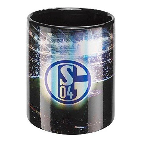 FC Schalke 04 Flutlicht Tasse Kaffeebecher (one size, schwarz)