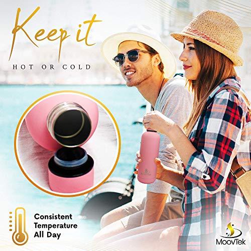 bottiglia d'acqua in acciaio inox - borraccia termica ecologica a doppia parete 500 ML - utilizzabile per tè, caffè, bevande fredde - qualità premium - buona per il campeggio, sport, escursionismo.
