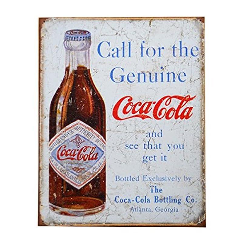 ぎこちない捕虜平方Tin Sign Coke Call for Genuine 【サインボード】 #58406