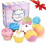Bombes de Bain, 8 pcs Naturel & Mixte Couleur Ensemble De Bain Moussant, Spa Fizzy...
