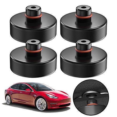 4 Stücke Wagenheber Gummiauflage Tesla Model 3 für Rangierwagenheber und Universal Gummiauflage für PKW SUV Robust und Praktisch Auto Tuning für die Schutz von den Wagenheber Kfz und LKW vor Kratzern
