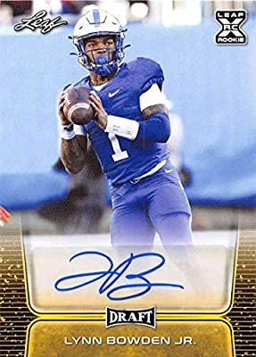 2020 Leaf Draft Autographs Gold Football #BA-LBJ Lynn Bowden Jr. Kentucky Wildcats Auto AutographOfficial Pre-Rookie Signature From The Leaf Company