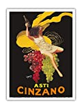 Asti Cinzano - Asti Spumante - Italian Sparkling White Wine - Vintage Advertising Poster by Leonetto Cappiello c.1910 - Master Art Print 9in x 12in