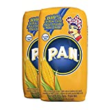 P.A.N. Yellow Corn Meal – Pre-cooked Gluten Free and Kosher Flour for Arepas, 1 kg (35 oz / 2 lb...
