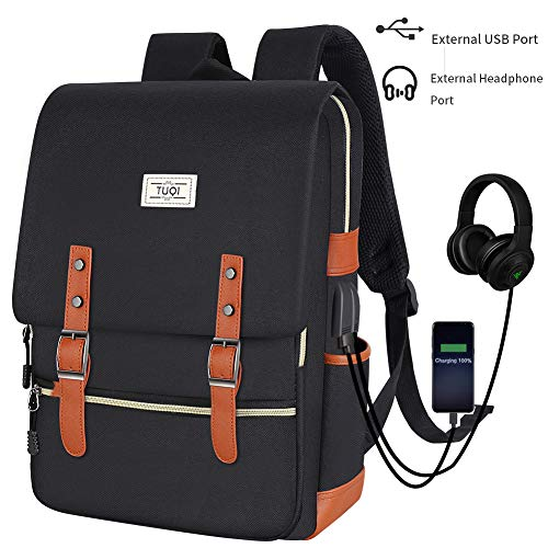 TUQI Mochila para Laptop Computadora Portátil para Empresas, Mochila de Viaje Casual Business College…
