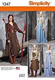 Simplicity Creative Patterns Misses' Fantasy Costumes Sewing Patterns, Size H5 (6-8-10-12-14)