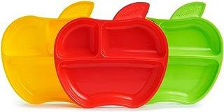 Munchkin Platos con compartimentos Apple, 3 unidades