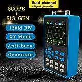 Multímetro de osciloscopio portátil DSO2512G, Mini osciloscopio Digital portátil de Doble Canal Azul con Ancho de Banda de 120M y muestreo de 500M