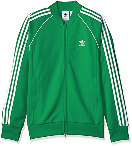 adidas Originals Men's Superstar Track Jacket, Green, XS