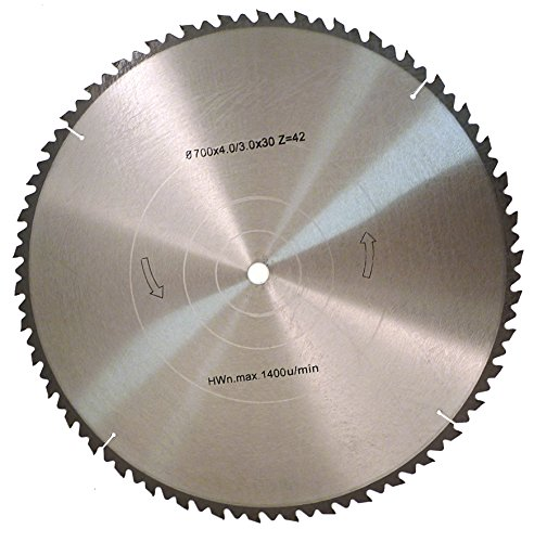Fartools 113887 - Hoja para sierra circular (diámetro 700 mm, calibre 30 mm, 40 dientes)