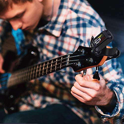 クリップ式チューナーカラーディスプレイギター/ベース/ウクレレ用