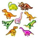 KATELUO 9 PCS Palloncino Dinosauro Palloncini, Dinosauri Animales Foglio di Alluminio Palloncino per Festa a Tema, Natale, Matrimonio, Compleanno Festa Decor und Bambini Regalo Decor