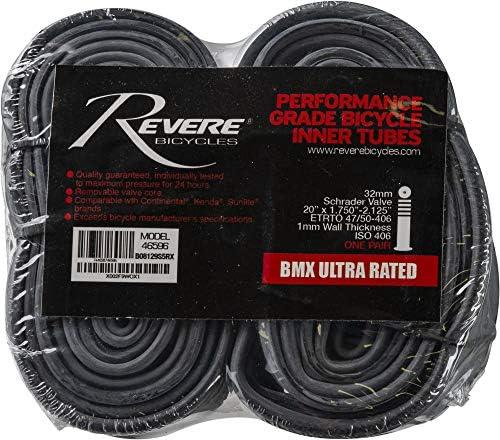 Revere Bicycles Tubes 2 Pcs 20 x 1 75 1 95 2 125 Schrader Valve BMX Premium Bicycle Inner Tubes product image