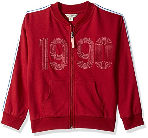 Lucky Brand Big Girls' Track Jacket, Jorgina Biking red, Medium